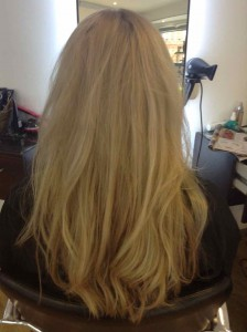 blonde hair colouring in central Bristol from Aidan Garlington Hair Design