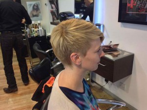 hair highlighting form central bristol hair salon Aidan Garlington