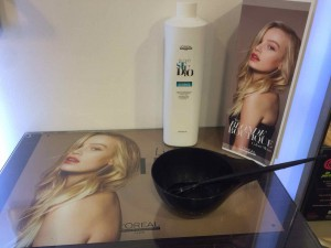 L'Oreal Lightening Gel from central bristol hair salon Aidan Garlington
