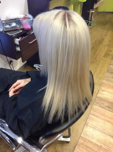 hair colour refresh example in central Bristol from Aidan Garlington hair salon