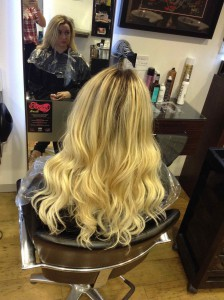 hair extensions in central Bristol using Beauty Works at Aidan Garlington Hair Design