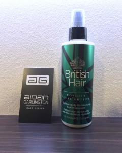 British Hair products in Bristol hair salon Aidan Garlington Hair Design
