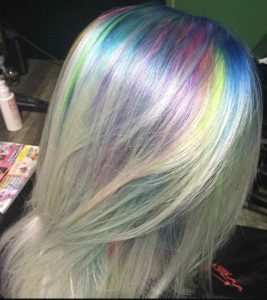Bristol Rainbow Roots hairstyle from Aidan Garlington Hair Design