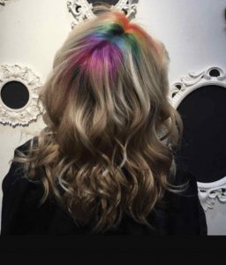 Rainbow Roots in Bristol at Aidan Garlington Hair design