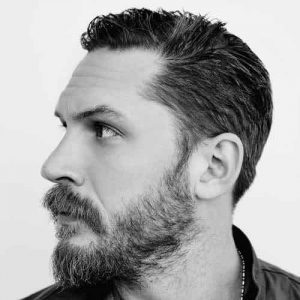 Tom Hardy gents hairdressing style in Bristol at Aidan Garlington Hair Design