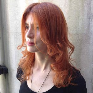 soft copper haircut in Bristol at Aidan Garlington Hair Design