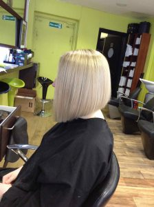 bob haircut in Bristol at Aidan Garlington Hair Design