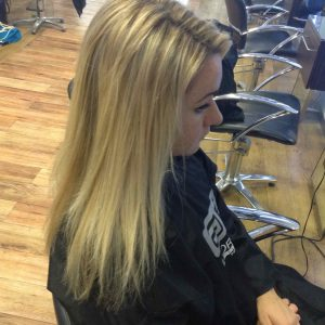 partial hair extensions in central Bristol at Aidan Garlington Hair Design