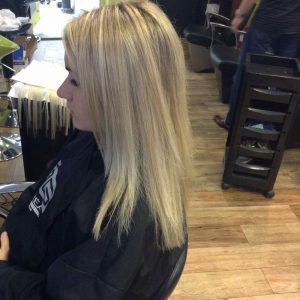 partial hair extensions in Bristol at Aidan garlington Hair Design