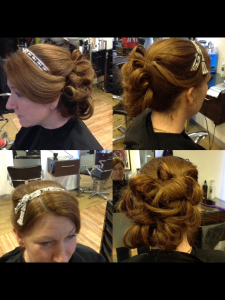 Wedding guest Hair ideas from central Bristol hairstylists at Aidan Garlington Hair Design